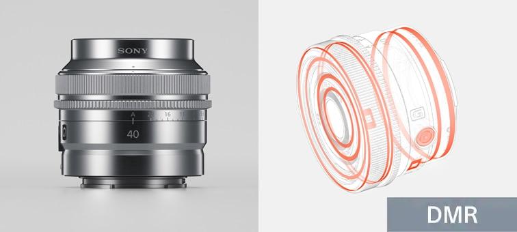 Lensin toza ve neme dayanıklı yapısını, ayrıca metal dış yüzeyini gösteren birleşik ürün görüntüsü