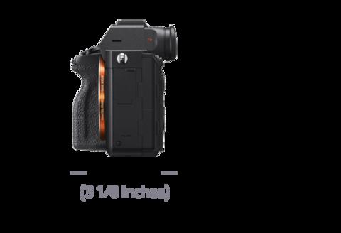 Lensin soldan görünümü, Derinlik 77,5 mm (3 1/8 inç)