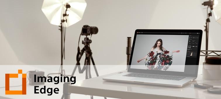 Imaging Edge Desktop logosuyla bir stüdyonun durum görüntüsü