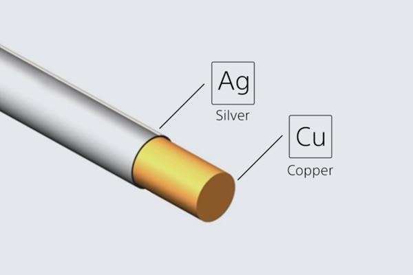 Gümüş kaplamalı oksijensiz bakır kablonun resmi