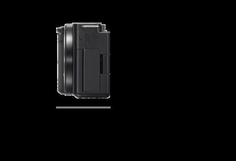Fotoğraf makinesinin sağdan görünümü, Derinlik 44,8 mm (1 13/16 inç)
