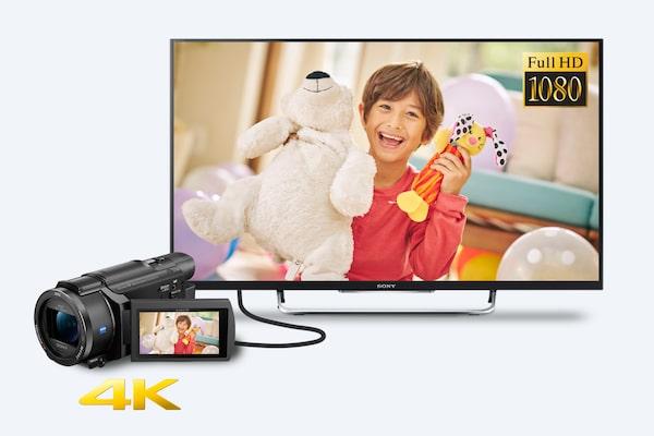 4K olmayan TV/cihazlarda süper örneklemeli Full HD