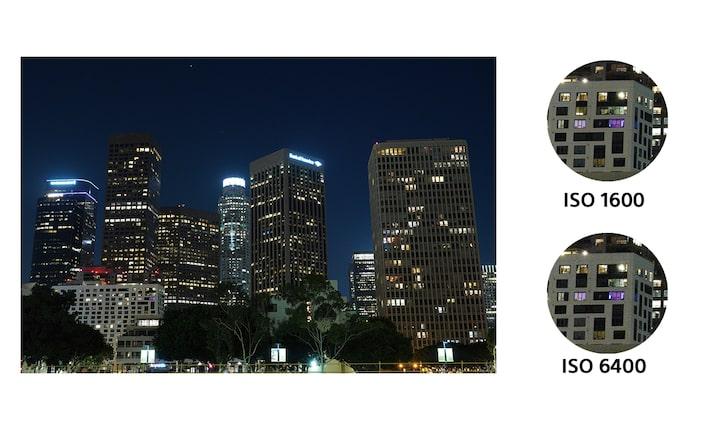 Yüksek ISO hassasiyeti için düşük gürültülü performans