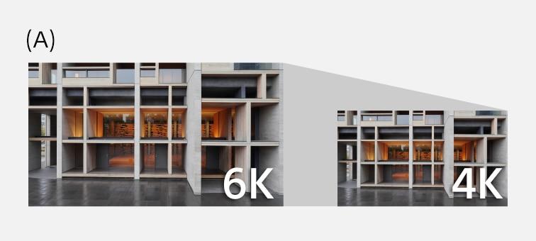 ZV-1'in 4K video oluşturmak için 6K eşdeğeri veri kullandığını açıklayan resim