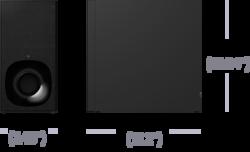 Wi-Fi/Bluetooth® teknolojili 3.1 kanallı Dolby Atmos® / DTS:X™ Sound Bar | HT-ZF9 ürününün fotoğrafı